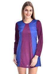 Arisha Viscose Solid Dress DRS1067_Prpl-Blu