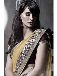 Viva N Diva Georgette Embroidered Saree -Dramatic-5104
