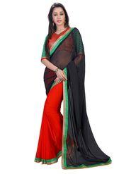Khushali Fashion Embroidered Georgette Half & Half Saree_KF28