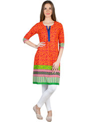 Branded Cotton Printed Kurtis -Ewsk0715-1411