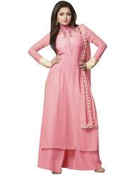 Fabfiza Embroidered Cotton Semi Stitched Salwar Suit_FB-5083