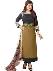 Fabfiza Embroidered Cotton Semi Stitched Straight Suit_FBER-10015