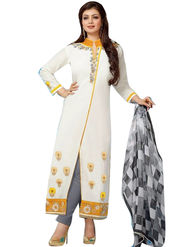 Fabfiza Embroidered Cotton Semi Stitched Straight Suit_FBER-10016