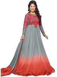 Fabfiza Embroidered Net Semi Stitched Anarkali Suit_FBHZ-42012