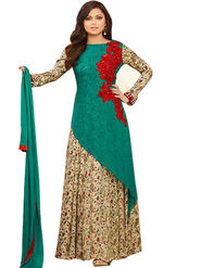 Fabfiza Embroidered Georgette Semi Stitched Anarkali Suit_FBLT-88003