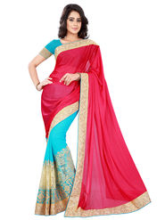 Florence Chiffon & Lycra  Embroidered  Sarees FL-10932
