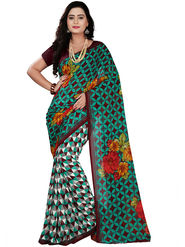 Florence Faux Georgette  Printed  Sarees FL-10995