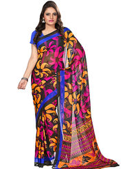 Florence Faux Georgette  Printed  Sarees FL-3176-B