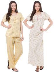 Pack of 3 Fasense Crush Cotton Nightwear  - DPCOM81