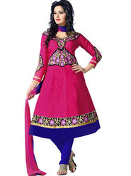 Florence Combric Cotton Embroidered Dress Material - Pink - SB-2076