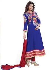 Florence Georgette Anarkali Semi-Stitched Suit-Blue-SB-1443