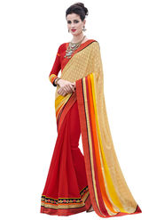Bahubali Georgette and Brasso Embroidery Saree -GA20022