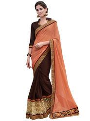 Bahubali Rasal net and Georgette Embroidery Saree -GA20034