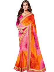Indian Women Bandhani Print Georgette Saree -Ic11210