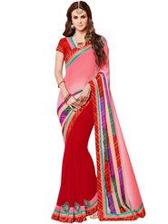 Indian Women Bandhani Bandhani Print  Crape & Georgette Saree -Ic11231