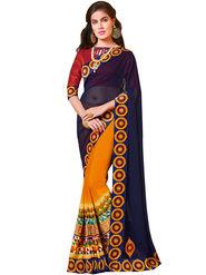 Indian Women Designer Printed Georgette Saree -Ic11232