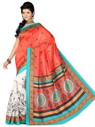 Ishin Bhagalpuri Silk Printed Saree - Multicolor - ISHIN-1777