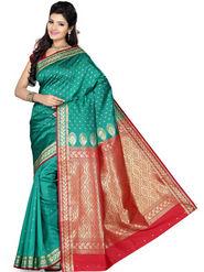 Ishin Art Silk Embroidered Saree - Multicolour_SNGM-1709