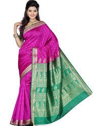 Ishin Art Silk Embroidered Saree - Multicolour_SNGM-1718