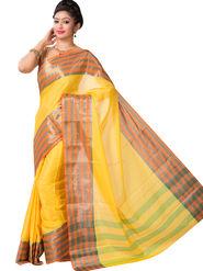 Ishin Cotton Printed Saree - Yellow - SNGM-2445