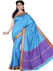 Ishin Polyester Printed Saree - Blue - STCS-2132