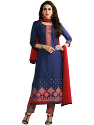 Khushali Fashion Cotton Embroidered Unstitched Dress Material -KRSH4351