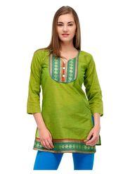 Arisha Cotton Printed Kurti KRT6024_Grn