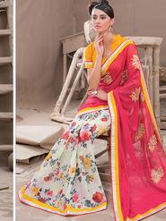 Viva N Diva Georgette Embroidered Saree Kanvi-2262