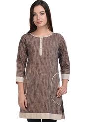Lavennder Khadi Striped Kurti -LK-623341