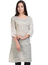 Lavennder Khadi Striped Kurti -LK-9621586