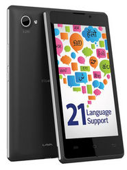 Lava Iris 465, 3G smartphone with 21 Indian Language support, 4.5? inch Display with Dual core processor, Android KitKat with 4 GB ROM + 512 MB RA, and 3.2 MP Rear Camera - Black