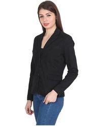 Levis Solid Cotton Black Blazer -os07