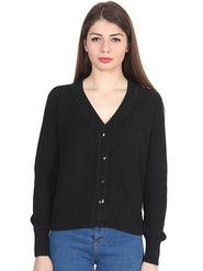 Levis Black Solid Woolen Sweater -os11