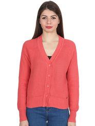 Levis Peach Solid Woolen  Sweater -os12