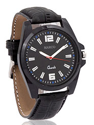 Marco Wrist Watch for Men - Black_MR-GR010-BLK-BLK