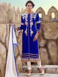 Viva N Diva Chanderi Silk Embroidered Unstitched Dress Material Mariyaam-1008