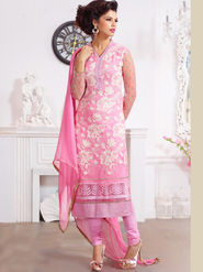Viva N Diva Pure Georgette Embroidered Unstitched Suit Mehreem-7777