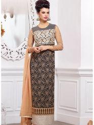 Viva N Diva Pure Georgette Embroidered Unstitched Suit Mehreem-7778