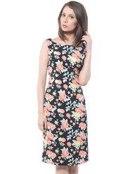 Meira Printed Poly Crepe Women's Dress - Multicolour _ MEWT-1185-C-Multi