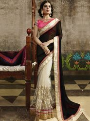 Zoom Fabrics Net Embroidered Saree -N1608