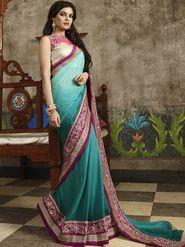 Zoom Fabrics Chiffon Embroidered Saree -N1616