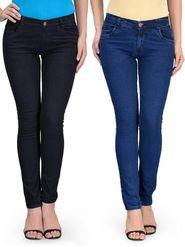 Pack of 2 Oleva Regular Fit Stretchable Denim for Women