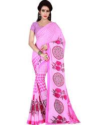 Shonaya Printed Dani Georgette Pink Saree -Pdrsb-720