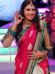 Ravishing Embroidery Fuschia Pink & Cream Saree from Aaha Enna Porutham (4318)
