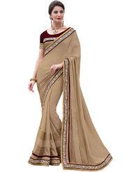 Indian Women Moss Chiffon  Saree -Ra10503