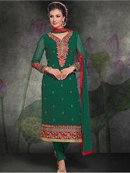Viva N Diva Georgette Embroidered Semi Stitched Suit Rihanaa-1103