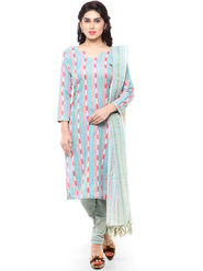 Florence Printed Poly Cotton Unstitched Dress Material -SB-3260