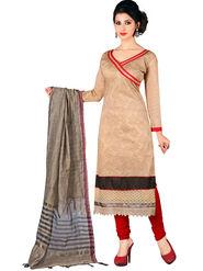 Khushali Fashion Chanderi Embroidered Unstitched Dress Material -SDSN8009