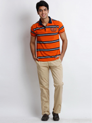 Skookie Plain Cotton Trouser For Men - Khaki - 12416459
