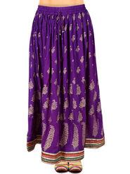 Amore Printed Rayon Skirt -SKV096PL